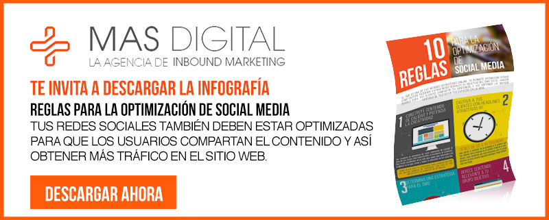 Infografía Social Media por Mas Digital